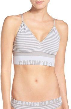 CALVIN KLEIN Convertible Seamless Bralette. #calvinklein #cloth #