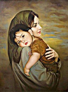 Mary and jesus Mother And Baby Paintings, Mother And Child Drawing, Mother Daughter Art, Mother Art, Mother Mary Wallpaper, Art Du Monde, Photographie Portrait Inspiration, Lds Art, Indian Art Paintings