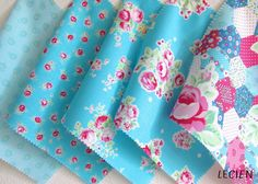 """SPRING GIVEAWAY from Lecien! Two winners will receive a new Flower Sugar 2015 Promo Pack (8"""" x 8"""") that has all color ranges shown on pictures. Giveaway ends on Tuesday, April 7 at 5:00pm PST and this Giveaway is for everyone worldwide. See more on Lecien Fabrics Facebook Page - https://www.facebook.com/lecienfabrics"""