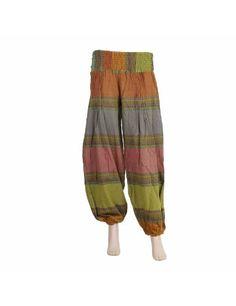 Pantalon capri indien en coton motifs colorés tissés - Vêtement de mode ethnique de l'Inde - Orange, lin, rose, vert: Amazon.fr: Vêtements et accessoires