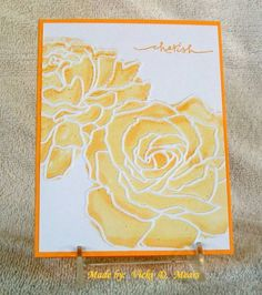 handmade card: Roses of Yellow vdm by vdm ... embossing folder roses with floating reinker technique .... gorious! ... Stampin'Up!