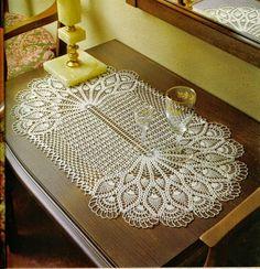 5 Patrones crochet de Centro de Mesa Ovalado   Crochet y Dos agujas