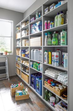Utility Room Concept by Schüller Kitchens Utility Room Concept by Schüller Kitchens - Own Kitchen Pantry Kitchen Pantry Design, Kitchen Organization Pantry, Pantry Storage, Storage Shelving, Pantry Can Organizer, Organized Pantry, Utility Room Storage, Basement Storage, Storage Spaces
