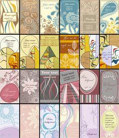 24 Coloridas plantillas gratuitas para crear nuestras propias tarjetas de visita   TodoGraphicDesign