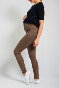 Pohodlné těhotenské legíny hnědé barvy Black Jeans, Pants, Fashion, Trouser Pants, Moda, Fashion Styles, Black Denim Jeans, Women's Pants, Women Pants