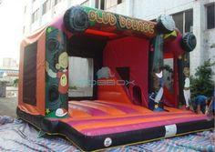 cartoon inflatable slide bouncer