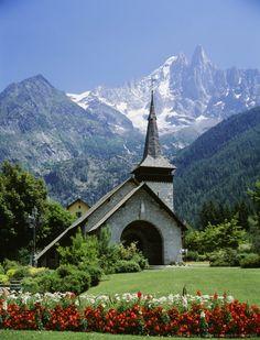 Les Praz De Chamonix, Alps, France                              …