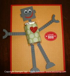 cards made with punches | Cards made w/ punches / Stampin' Up! Punch Art Phyllis Johnson Robot