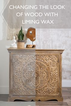 White washing wood with wax • Fusion™ Mineral Paint Furniture Wax, Living Furniture, Upcycled Furniture, Furniture Makeover, Living Room Decor, Furniture Refinishing, White Washed Furniture, Interior Design Pictures, Antique Buffet