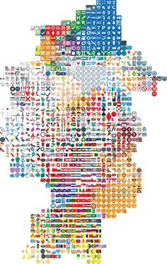 """Artist """"Obsessively Orders"""" 1053 Emojis   The Creators Project"""