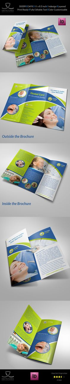 Dental Clinic Tri-Fold Brochure Vol.2 on Behance