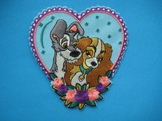 Iron-on Embroidered Patch Disney Lady and the Tramp 4 inch
