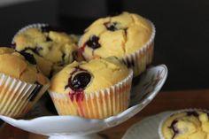 Muffinki z borówkami i mąką kukurydzianą - W kuchennym raju