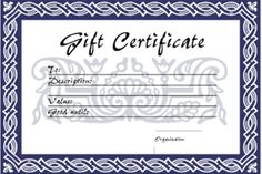 Birthday Gift Certificate Template Free Printables