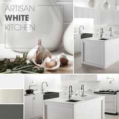 Careful curation, mixed styles, numerous workstations, and a mostly white color palette - all of the elements you need for a dream kitchen. #kitchendesign #whitekitchen #kitcheninspo