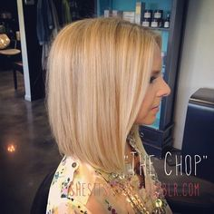 Angela went on the chopping block today! We cut 5 off her hair today inspired by Giuliana Rancic. LOVE  this look on her! #hair #haircut #thechop #giulianarancic #springtrends #freshcut #longbob #sittingpretty #kellystuckeyhair #hairoftheday