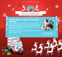 Santa needs a sidekick! Help deliver Christmas gifts and you could WIN amazing prizes!