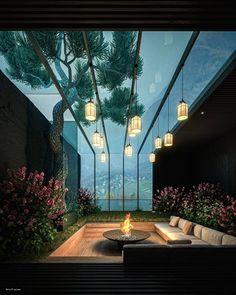 Architecture Photo, Amazing Architecture, Villa Design, House Design, What Is Interior Design, Garden Sitting Areas, Bali House, Backyard House, Terrace Garden