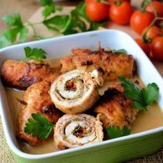 Delicious rolls with aromatic pesto