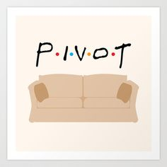 Throw Pillows featuring Pivot - Friends Tribute by The LOL Shop Best Tv Shows, Best Shows Ever, Favorite Tv Shows, Favorite Things, David Crane, Friends Episodes, Friends Tv Show, Pivot Friends, Ross Geller