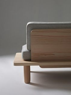 Plank Sofa is a minimalist design created by Norwegian-based designers KnudsenBergHindenes. The sofa is easily assembled, and can be flat-pa. Sofa Furniture, Cheap Furniture, Wooden Furniture, Furniture Design, Furniture Online, Sofa Chair, Furniture Buyers, Furniture Websites, Furniture Dolly