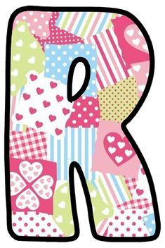 Buchstabe - Letter R Monogram Alphabet, Bubbles, Kids Rugs, Quilts, Robin, Diy, Design, Decor, Scrappy Quilts
