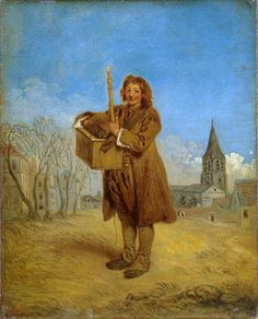 Savoyard with a Marmot - Jean-Antoine Watteau. Oil on canvas. 41 x 33 cm. The State Hermitage Museum, St. Jean Antoine Watteau, Pop Art, Cultura General, French Rococo, Hermitage Museum, Oil Painting Reproductions, Rococo Painting, Painting Gallery, Art Database