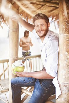 I love this drawing of Jensen and Jared. Maybe this can be  an SPN episode of Sam and Dean finally going to the beach. Credit to: The+Beach+by+MiRta5.deviantart.com+on+@DeviantArt