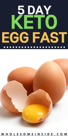 Are you having trouble transitioning into ketosis?😩 Keto EGG FAST is all you need! 😱CLICK THE LINK to learn why this diet and fasting can help you lose weight and be healthy! 👌