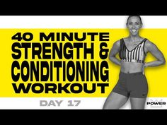 40 Minute Strength and Conditioning Workout | POWER Program - Day 17 - YouTube Treadmill Workouts, Workout Days, Easy Workouts, Morning Workouts, Strength And Conditioning Workouts, Hiit Program, Belly Fat Workout, Kettlebell, Weight Training