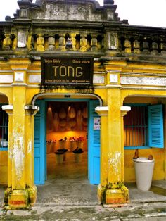 More images I captured while enjoying the wet afternoon in Hoi An, Vietnam. Hanoi Vietnam, Vietnam Travel, Vietnam Destinations, Les Continents, French Colonial, Colonial Architecture, Indochine, Destination Voyage, Hoi An
