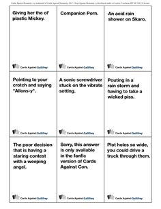 Cards Against Gallifrey - the printable Doctor Who expansion for Cards Against Humanity