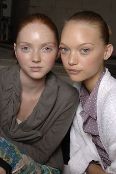 Lily Cole and Gemma Ward