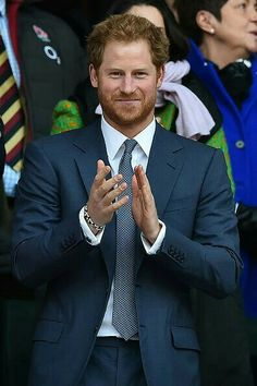 Royal Family Around the World: Britain's Prince Harry Attends the Six Nations international rugby union match between England and Wales at Twickenham in south west London on March 2016 Prince Harry Of Wales, Prince William And Harry, Prince Harry And Megan, Prince Henry, Harry And Meghan, Prince Charles, Princess Meghan, Prince And Princess, Princesa Diana