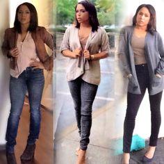 #neutrals #workoutfits #businesscasual #graysweater     #grayjeans #blush #hollylowejones