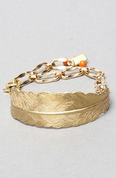 Bent Feather Bracelet by Erica Weiner