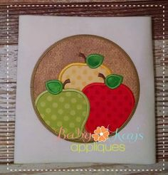 This design is great for a school project or something for fall. Use the same fabric on all apples or mix it up.