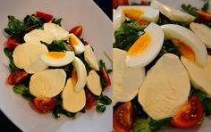 Polníčkový salát s rukolou, mozzarellou a cherry rajčátky přímo od šéfkuchaře Luboše!