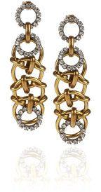 Lulu Frost Classic Chainlink crystal earrings