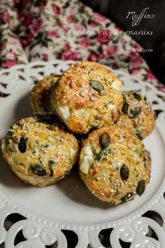 Αλμυρά κεκάκια, muffins, με κολοκύθα και σπανάκι ⋆ Cook Eat Up!