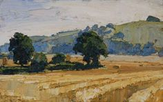 Oliver Akers Douglas  - Harvest at Berrycourt (Portland Gallery)