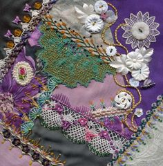 Crazy quilt blocks by sharon b