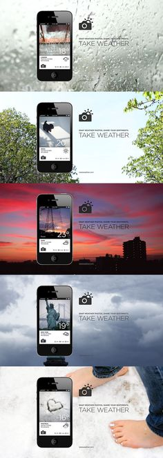 Take Weather *** it is a new weather-social networking application with photos.