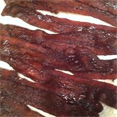 Caramelized Bacon - Allrecipes.com omg this is perfect for a bacon liver like meeeeee!!