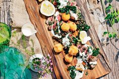 In this updated version of the Italian classic, Valli Little has taken the tuna out of the sauce and used it to make croquettes. Need a deep frier for croquettes. Entree Recipes, Fish Recipes, Meat Recipes, Gourmet Recipes, Cooking Recipes, Vitello Tonnato Recipe, Fried Capers, Lemon Potatoes