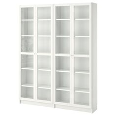 Bookcase with Glass Doors Ikea . Bookcase with Glass Doors Ikea . Billy Oxberg Bookcase with Panel Glass Doors White Bookcase With Glass Doors, Glass Cabinet Doors, Glass Shelves, Bookcase White, Small Bookcase, Shoe Cabinet, Horizontal Bookcase, Wooden Bookcase, Wall Shelves