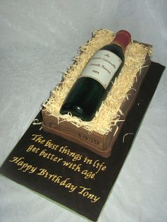 Wine Birthday Cake Wine bottle cake for a good friend who turned 50. It was a really fun cake to do. I loosely followed the instructions in...