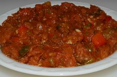 Matboukha (Moroccan Salsa (use red pepper and roast)