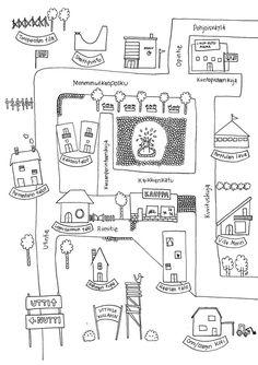 Värityskuva Utin kartasta ja tehtäviä blogissa Primary School, Ideas Para, Activities, Dibujo, Upper Elementary, Elementary Schools