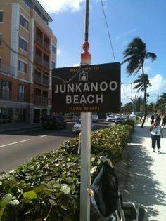 Junkanoo Beach sign